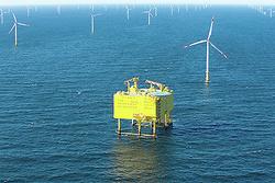 Über die Netzanbindung SylWin1 wird der Strom der drei Windparks Butendiek, DanTysk und Sandbank ans Festland gebracht.