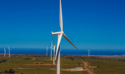 The 138MW Jeffreys Bay Wind Farm in South Africa commenced commercial operation last year.