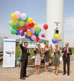 WSB commissions Saxony's as yet biggest wind park project in 2015