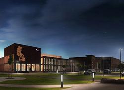 Amprion und Siemens gestalten gemeinsam die Energiewende – Zukünftiges Gebäude der Hauptschaltleitung Brauweiler von Amprion, wo das neue Netzleitsystem Spectrum Power 7 von Siemens zum Einsatz kommen wird. (Copyright: Kaspar Kraemer Architekten BDA)
