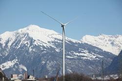 Die Anlage in Haldenstein (©Suisse Eole)