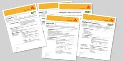 Sika stellt ab sofort für ausgewählte Produkte Nachhaltigkeitsdatenblätter bereit. Mit den darin zusammengefassten Informationen unterstützt Sika Planer, Auditoren und Bauherren bei Fragen rund ums nachhaltige Bauen
