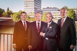 Geschäftsführung NW Assekuranz: R. Tabbert, T. Haukje, Dr. P. Wendisch, A. Grobien (v.l.n.r.)