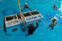 Das Ausbildungsequipment wie Boat Landing, Escape Chute-System und Winden, ermöglicht das Trainieren von Rettungstechniken bei allen Wetterlagen