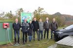 Windkraft Heiden und Heidener Bürgermeister Benson eröffnen neue Ladesäule für Elektrofahrzeuge aus sauberem Windstrom