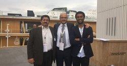 (v.l.n.r.) Eduardo Gomes de Texeira (Windvision), Domenico Franceschino (Axpo) und Andre Stephane Van de Goor (Windvision)