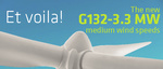 Global: Gamesa unveils the debut model from its new 3.3 MW platform: the G132-3.3 MW turbine for medium wind speeds