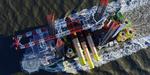 Erstes Fundament für den Offshore-Windpark Nordsee One erfolgreich errichtet