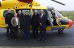 Bundesvize Ralf Stegner besucht Offshore-Luftrettungsstation