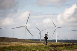 Windpark in Schottland