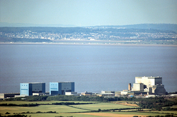 AKW Hinkley Point, Anlagen A + B. (Foto: Richard Baker, Creative Commons 2.0)