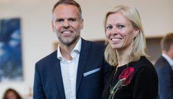 Ulstein Group Deputy CEO Tore Ulstein and CEO Gunvor Ulstein