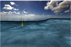 This is how the Hywind Wind Farm will look like (Image: Statoil)