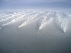 Offshore-Windpark Horns Rev 1 vor der Westküste Dänemarks