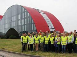 Sabowind-Team zur Werksbesichtigung bei Enercon in Magdeburg