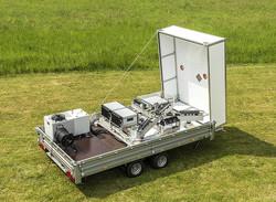 Das bistatische Doppler-Lidar-System der PTB kann in jedem Gelände zum Einsatz kommen. (Foto PTB)