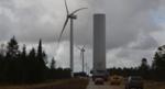 Denmark: Record-breaking transport of turbine tower section