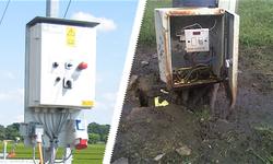 Bild: Das Kunststoffgehäuse weist nach Jahren im Outdoor-Einsatz keine Veränderungen auf, während bei Stahlblech Rost und Verlust der Schutzart drohen