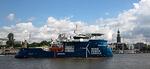 Taufe des Wind-Serviceschiffs für das holländische Offshore-Projekt Gemini in Hamburg