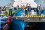 Schiffstaufe an sanierter Landemole Knock – EMO-Offshore-Base Emden damit bestmöglich gerüstet