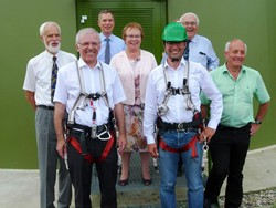 Dr. Walter Witzel, Andreas Markowsky, Landrat Dr., Hanno Hurth, Hannelore Reinbold-Mench, Dr. Andre Baumann, Erhard Schulz, BWE-Regionalvorsitzender, Alexander Schoch (v.l.n.r.)