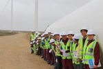 Learners visit wind farm to learn more about wind energy