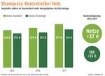 Analyse: Strom-Netzentgelte steigen bundesweit um 10 Prozent