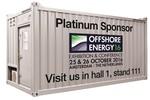 ELA Offshore ist Platinum Sponsor der Offshore Energy 2016: Großer Stand in Halle 1 mit diversen Offshore Wohncontainern