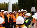 Eiterfelder Bürger besichtigen Windpark-Baustelle