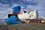 Siemens Wind Power stellt in Esbjerg erstes Transportschiff für Windturbinen vor