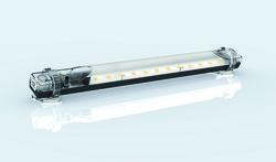 Die schwenkbare LED-Schaltschrankleuchte LEX-350 mm von ELMEKO punktet mit Universalspannung, Multifunktionsstaste, einfacher Montage, heller Lichtausbeute und 50.000 Stunden Betriebsdauer. Sie ist mit und ohne Bewegungsmelder lieferbar. (Bild: ELMEKO)