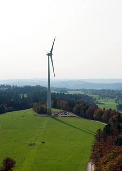 Der Windpark Le Peuchapatte (Bild: Alpiq)