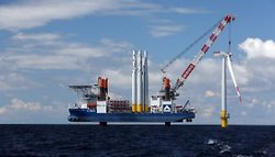 Offshore Wind Farm under Construction (Image: EnBW)