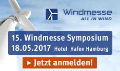 15. Windmesse Symposium 2017: Jetzt Ausstellungsplatz sichern!