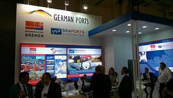 """Auch in diesem Jahr rechnet Seaports of Niedersachsen mit zahlreichen Fachbesuchernauf dem Messestand der """"German Ports"""" auf der Intermodal South America (Bild: Seaports)"""