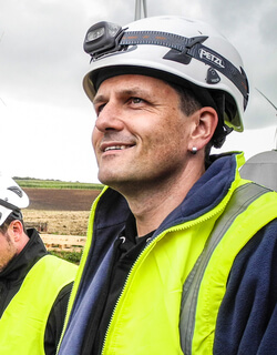 Torsten Hartmann auf der Baustelle