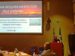 Eva Phillip während ihres Vortrags beim Workshop in Washington (Foto: Vattenfall)