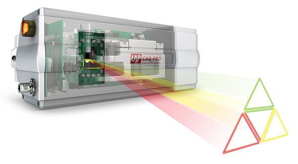CAD-PRO Laserprojektoren von LAP können Laserumrisse in drei Farben mit hoher Präzision auf Arbeitsflächen projizieren.