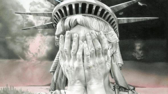 """The image """"Oh America"""" by Gee Vaucher became an internet meme after Trump's election victory"""