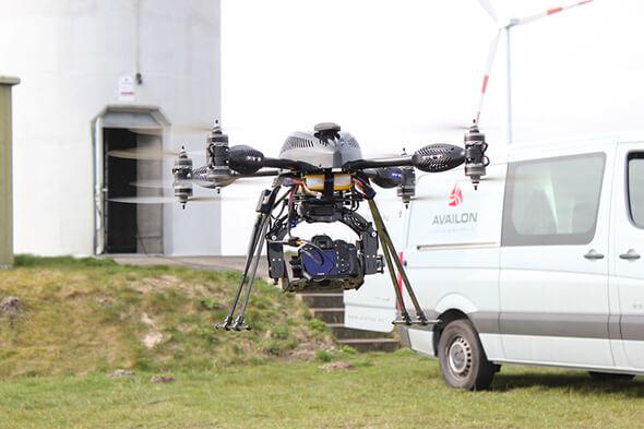 Die Drohne Altura ATX8 kommt bei Availon zum Einsatz. (Bild: © Availon GmbH)