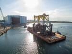 Tragkonstruktion für Offshore-Konverterplattform DolWin gamma ausgeschifft