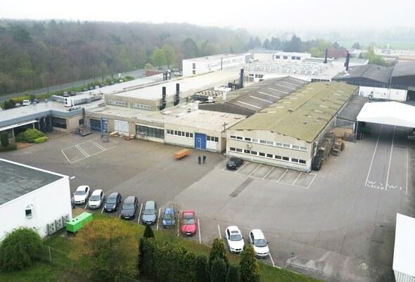 Luftaufnahme des AHC-Stammwerks in Kerpen (Foto: AHC)