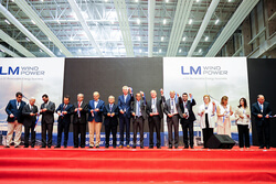 The ribbon is cut to open the new Bergama, Turkey plant on July 11, 2017 (Image: LM Wind Power)