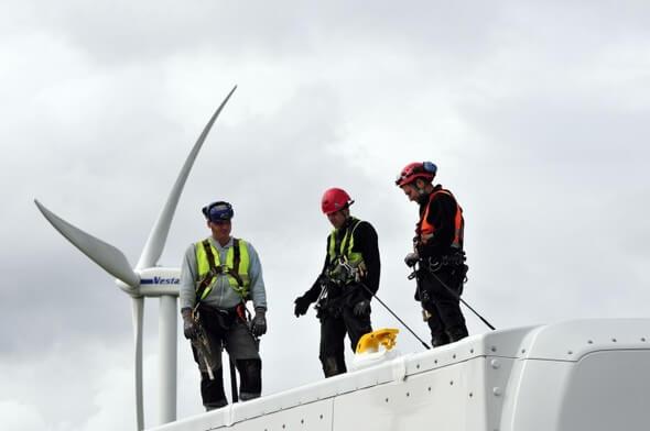 Die Windbranche rechnet mit harten Zeiten, wenn sich nicht schnell etwas ändert. (Bild: Tim Riediger/BWE)