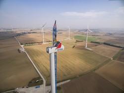 Bau einer Windkraftanlage der EnBW in Baden-Württemberg (Bild: EnBW)