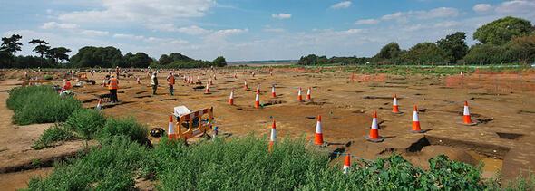 Auf einer Fläche von 60 Hektor wurden Ausgrabungen in England durchgeführt (Bild: ScottishPower Renewables)