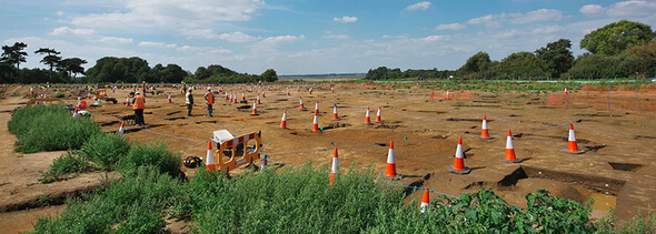Excavations were carried out in England on an area of 60 hectares (Image: ScottishPower Renewables)