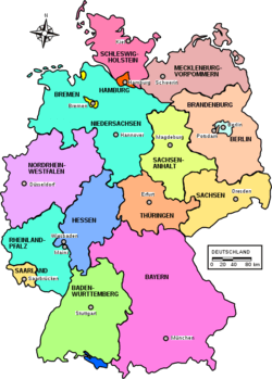 German Federal States (Map: Wikimedia / Public Domain)