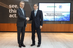 Dr. Klaus Geißdörfer, Head of Division Industrial Technology and Dr. Stefan Spindler, CEO Industrial of Schaeffler AG Source: ZF Wind Power, Schaeffler AG