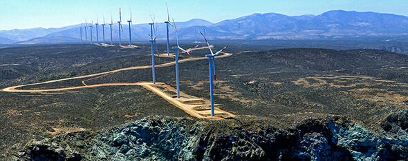 Punta Palmeras wind farm (45 MW), the first one owned by ACCIONA Energía in Chile (Image: ACCIONA)
